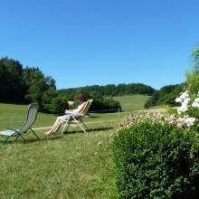 Blick vom Ferienhaus Lochau
